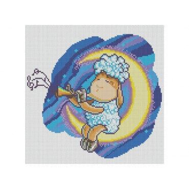 Алмазная вышивка Овечка на Луне