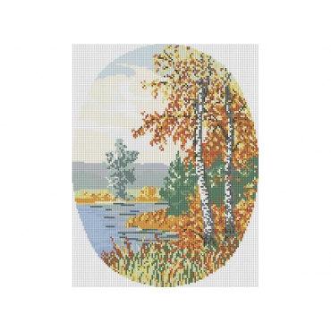Алмазная вышивка Осенний лес