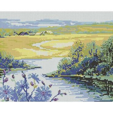 Алмазная вышивка Река и поле