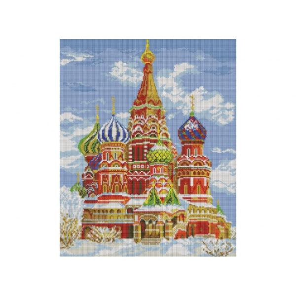 Алмазная вышивка Храм Василия Блаженного