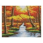 Алмазная вышивка Оранжевый лес