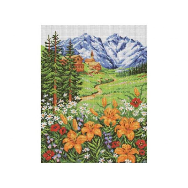 Алмазная вышивка Альпийский пейзаж