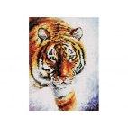 Алмазная вышивка Тигр на снегу