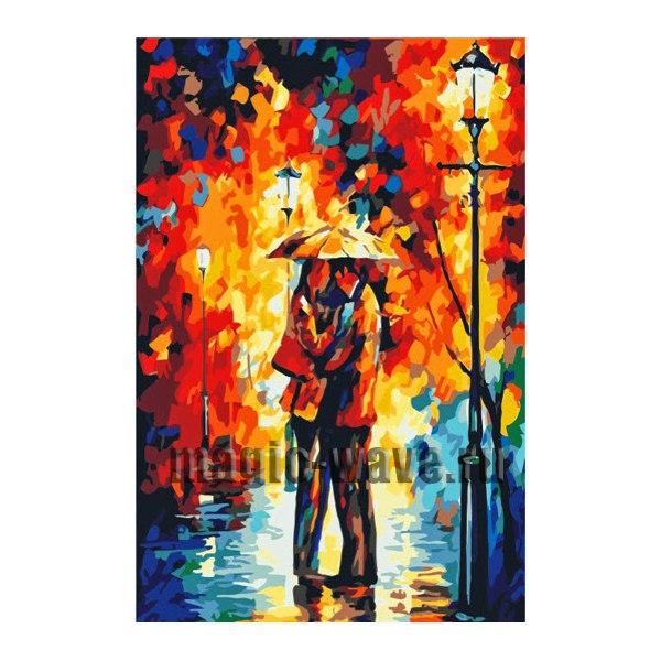 Алмазная вышивка Осенний поцелуй