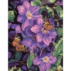 Алмазная вышивка Бабочки в лиловом