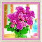 Алмазная вышивка Букет роз