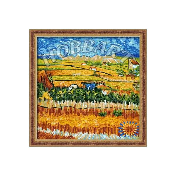 Пейзаж с голубой повозкой Ван Гог