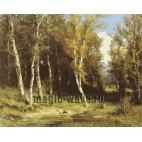 Лес перед грозой. Репродукция Шишкина И.И.
