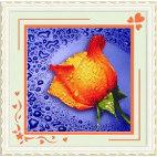 Алмазная вышивка Жёлтая роза