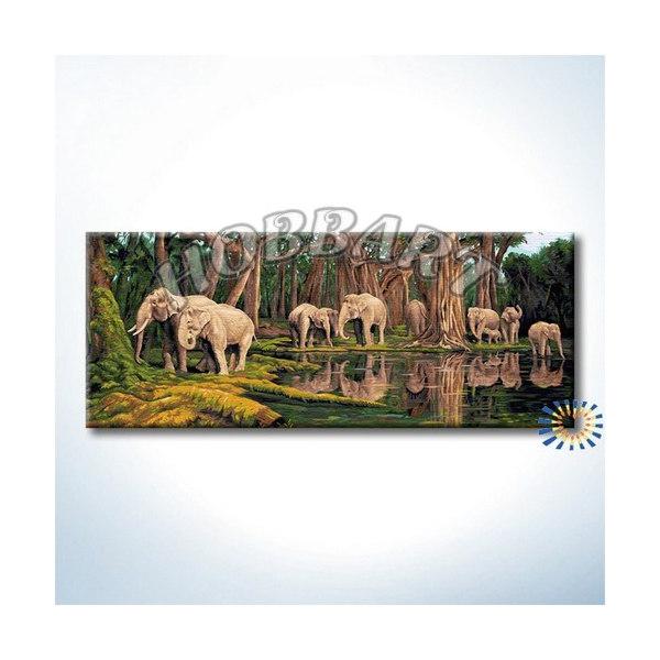 Индийские слоны (без подрамника)