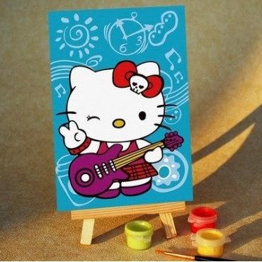 Китти с гитарой