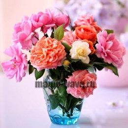 Алмазная вышивка Букет садовых роз