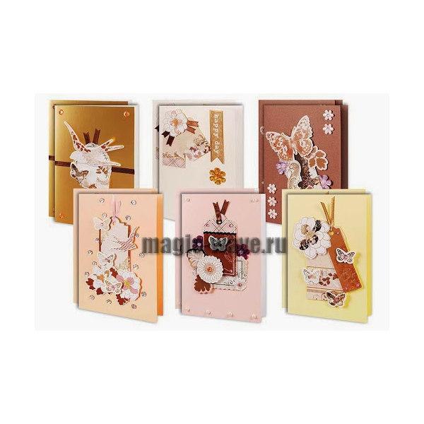 """Набор для создания 12-ти открыток """"В розовых тонах"""""""