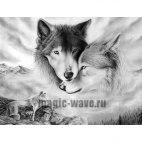 Алмазная вышивка Волчья любовь