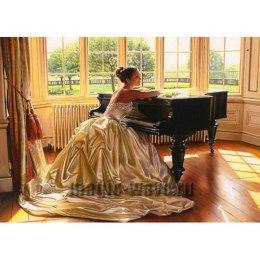 Алмазная вышивка Пианистка
