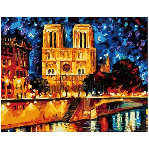 раскраска по номерам собор парижский богоматери леонид