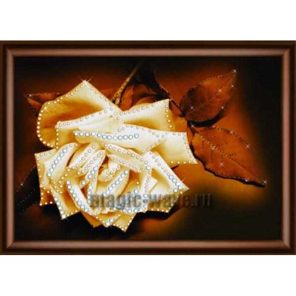 Алмазная вышивка Белая нежность розы
