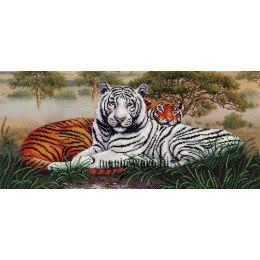 Вышивка бисером Саванна. Тигры