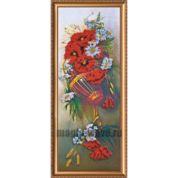 Вышивка бисером Полевые цветы