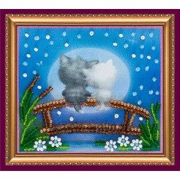 Вышивка бисером Магнит Лунные коты