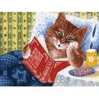 Котик с книжкой