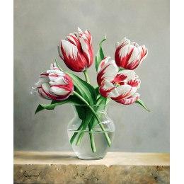 Алмазная вышивка Распускаются тюльпаны