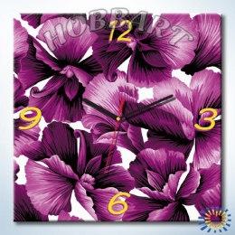 Фиолетовое очарование (часы-раскраска)