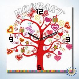 Дерево любви (часы-раскраска)