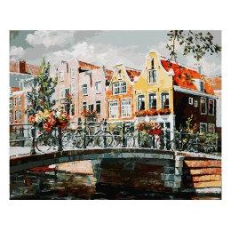 Амстердам. Мост через канал
