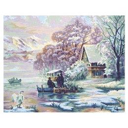 Зима на озере