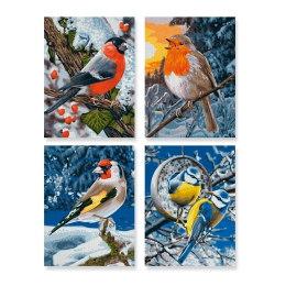 Птицы зимой 4 шт.