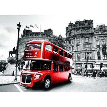 Алмазная вышивка Красный автобус