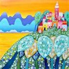 Алмазная вышивка Мимо острова Буяна
