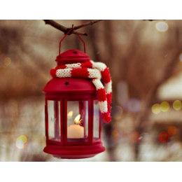 Алмазная вышивка Рождественский фонарь