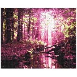 Алмазная вышивка Весенний розовый лес