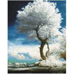 Алмазная вышивка Белое дерево закат