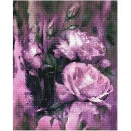 Алмазная вышивка Фиолетовые цветы