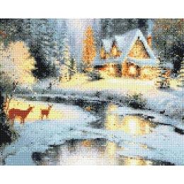 Алмазная вышивка Зимний ручей