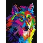 Алмазная вышивка Радужный волк