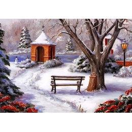 Алмазная вышивка Зимний парк