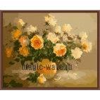 Букет персиковых роз