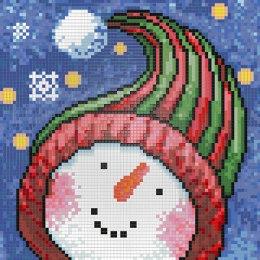 Алмазная вышивка Портрет Снеговика