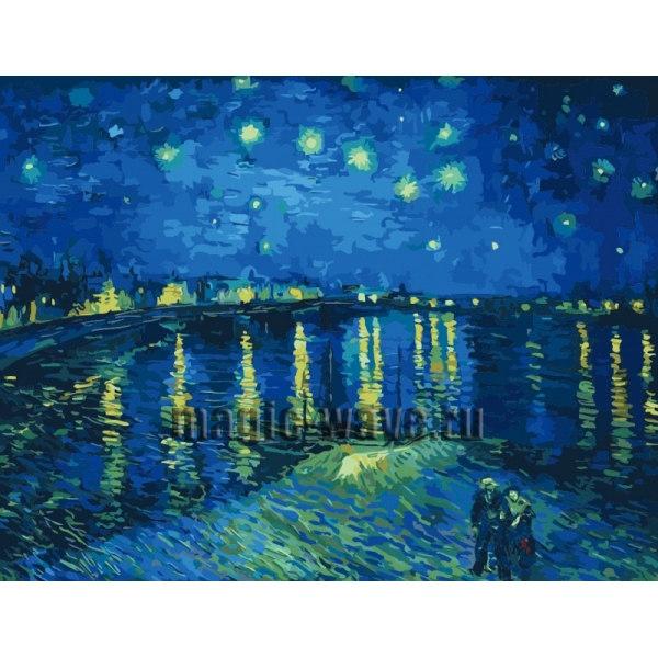 Звездная ночь над Роной, Ван Гог