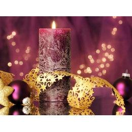Алмазная вышивка Новогодняя свеча