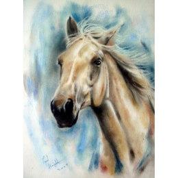 Алмазная вышивка Каурый конь