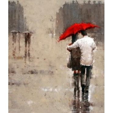 Алмазная вышивка Двое под дождем