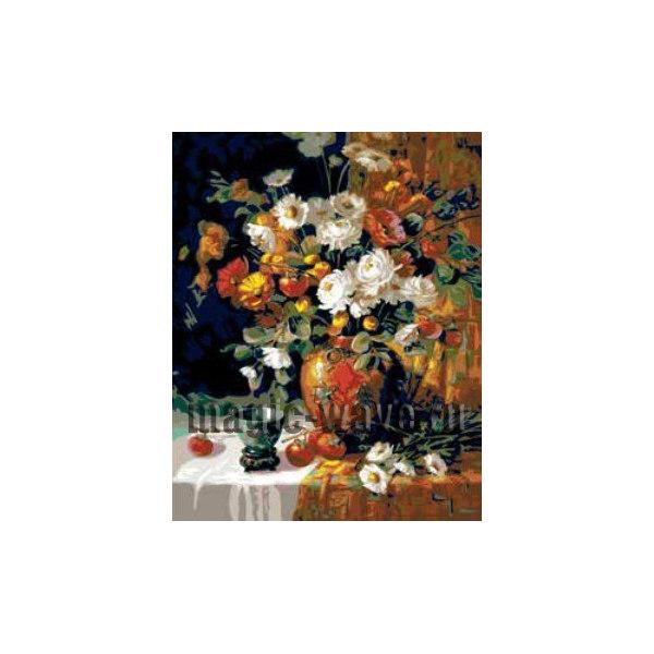 Хурма и хризантемы