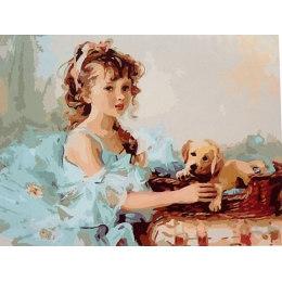 Девочка и щенок