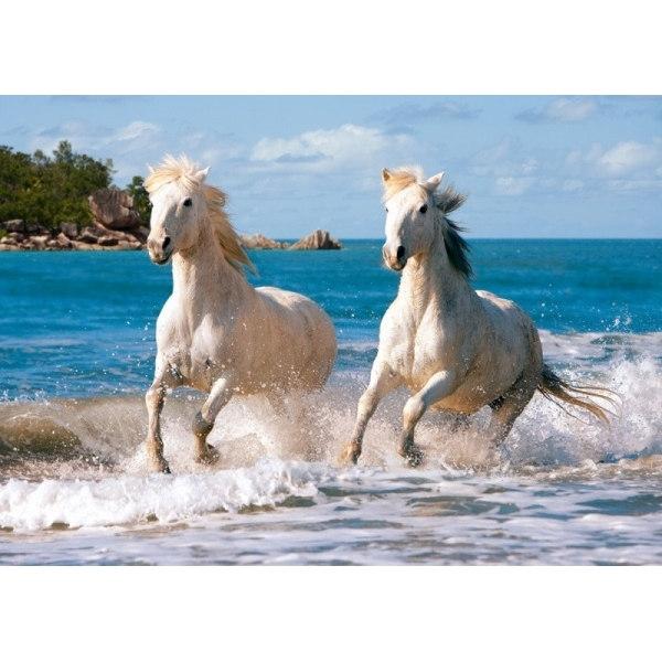 Пазл Белые лошади