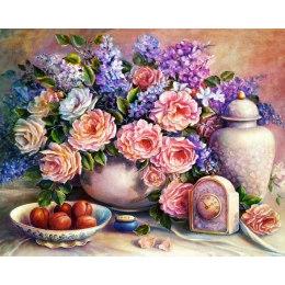 Алмазная вышивка Розовый натюрморт
